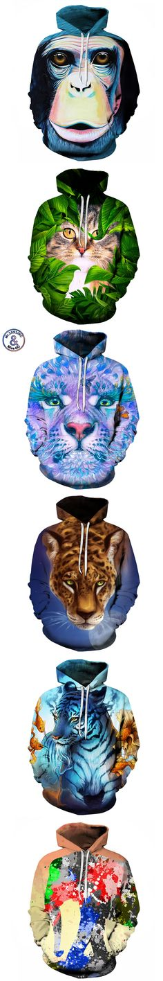 Mr.1991INC Men Hooded Sweatshirt Europe America Hot 3d sweatshirts Men Hooded Pullovers Casual Animal Hoodies 22 Model S-6XL