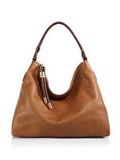 Michael Kors - Skorpios Medium Hobo Bag in Luggage (Camel)