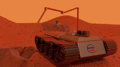 Martian exploration robot, Mauro Abde on ArtStation at https://www.artstation.com/artwork/LJwwR
