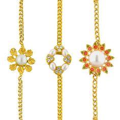 Jpearls Trimurthy Pearl Rakhi | Gold and Pearl Rakhi  #rakshabandhan #jewellery #rakhigifts #rakhis #brother