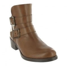 f1a10c694787 Ankle Boot With Buckles 3544L Brown Great Women