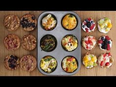 Three Healthy Breakfasts In A Muffin Tin - YouTube