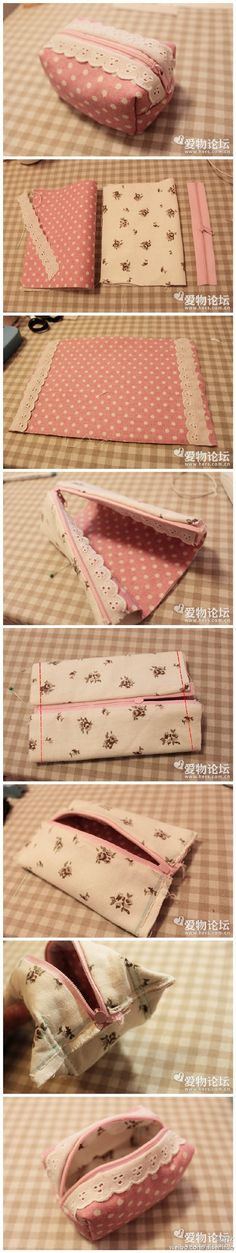Make your own pencil case / pouch. Or toiletry bag.- Make your own pencil case / pouch. Or toiletry bag. Or misc tote. Make it anythi… Make your own pencil case / pouch. Or toiletry bag. Or misc tote. Fabric Crafts, Sewing Crafts, Sewing Projects, Diy Crafts, Sewing Diy, Bags Sewing, Diy Projects, Free Sewing, Sewing Tutorials