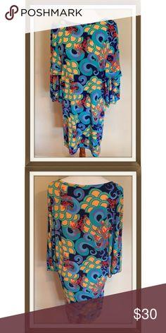 "🐠 Tracy Negoshian Dress Tracy Negoshian Sea print dress in size medium. Bright ""under the sea"" print, kimono style sleeves. Polyester jersey with 5% spandex for a great fit. Tracy Negoshian Dresses"