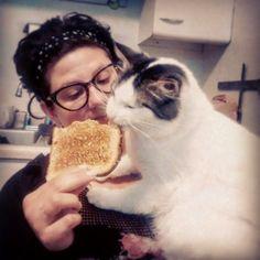 Sadece Kedi Sahiplerinin Anlayabileceği 22 Şey |Kediler yediğiniz herşeyi - sevmeseler bile - yemek isterler