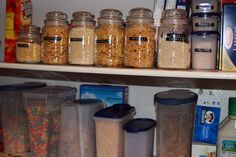 label and use old candle jars for food storage
