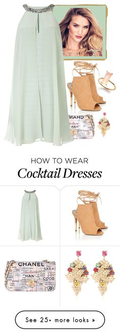 """""""Chanel"""" by chrissymusicfashion on Polyvore featuring Chanel, Adrianna Papell, Lipsy and Halo & Co."""