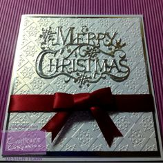 Box of Christmas cards Tutorial  Using Nordic embossing folder and Signature Collection Traditional Christmas Die. Tutorial Instructions HERE http://www.crafterscompanion.co.uk/blog/2016/12/22/inspirational-tutorial-card-boxes/