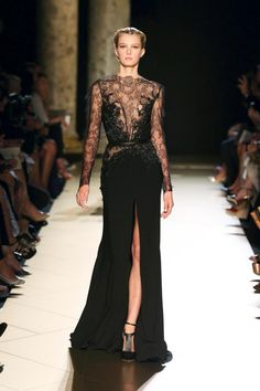 I'm in love with this black Elie Saab dress! #TopshopPromQueen
