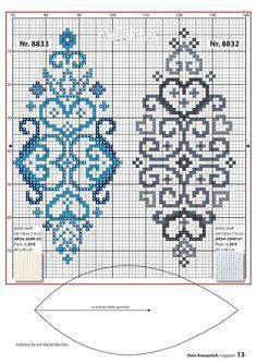 ru / Фото # 13 - Your cross stitch magazine 2017 - Chispitas Celtic Cross Stitch, Cross Stitch Heart, Cross Stitch Borders, Cross Stitch Designs, Cross Stitching, Cross Stitch Embroidery, Beading Patterns, Embroidery Patterns, Cross Stitch Patterns