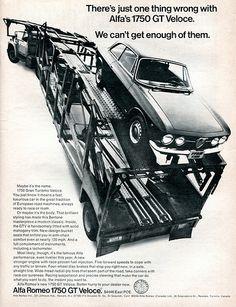 1969 Alfa Romeo 1750 GT Veloce Advertising Road & Track July 1969