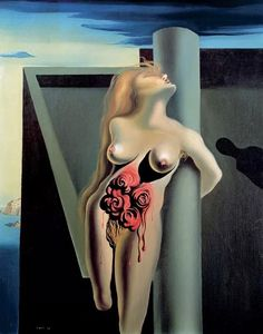 The Bleeding Roses, Artist: Salvador Dali Completion Date: 1930 Style: Surrealism Genre: nude painting (nu) Technique: oil Material: canvas Gallery: Private Collection Bleeding Rose, Salvador Dali Gemälde, Salvador Dali Paintings, Figueras, Surrealism Painting, Spanish Artists, Magritte, Marlene Dietrich, Wassily Kandinsky