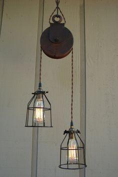 Farm Pulley Lighting