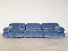 For Sale on - Mario Bellini designed this amazing modular sectional sofa for C&B Italia. These elements have been reupholstered in blue velvet. We have more original Home Interior Design, Interior Architecture, Interior Decorating, Interior Inspiration, Room Inspiration, Furniture Decor, Furniture Design, Plywood Furniture, Painted Furniture
