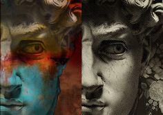 MICHELANGELO-DAVID Variazioni sul tema intervento digitale di GianPaolo Zanti