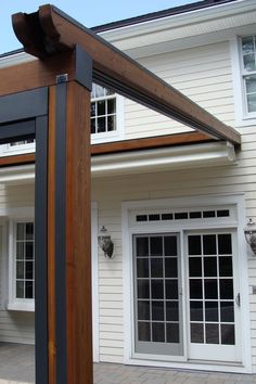 The Gennius Pergola Awning view showing the pleated fabric retracted under a protective hood