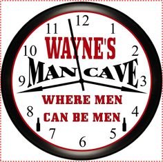 MAN CAVE Personalized Wall Clock Game Room by Simply Southern Gift