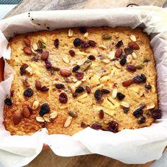 GEZONDE TAART: appeltaartje van bulgur met cranberries en noten