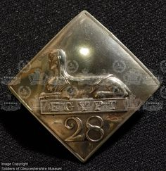 The Back Badge shown here is a copy of the earliest known pattern issued in… Alexandria, Badges, Cas, Raising, Silver Plate, Battle, Military, Popular, Unique