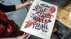 Last Rizla / Three Way Plane Gig Poster Collab on Behance