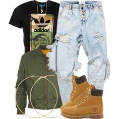 11|7|15 by miizz-starburst on Polyvore featuring WearAll, Timberland, Forever 21, Argento Vivo and adidas Originals