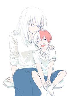 My Hero Academia (Boku No Hero Academia) #Anime #Manga Todoroki Shouto and his mom