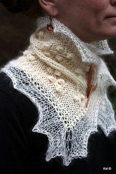 My design-handknitted scarf