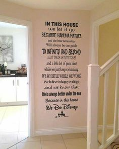 I need this! In this house, we do Disney. Great children's wall decor.