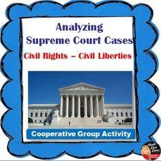 Landmark Supreme Court Cases Group Project -Civil Rights/Civil Liberties Creative Teaching, Teaching Science, Social Science, Landmark Supreme Court Cases, Judicial Branch, Teaching Strategies, Teaching Ideas, Teaching Tools