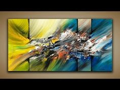 Abstract Painting / DEMO 57 / Abstract Art / How to Paint / Painting Techniques - YouTube