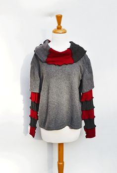 Women's Upcycled Clothing Cashmere Sweater Pullover w by MyOlyGirl, $95.00