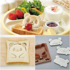 Special breakfast for kids, cute teddy bear toast