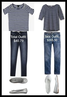 Back to School Outfits for Less! Finds a high priced outfit for much less money!