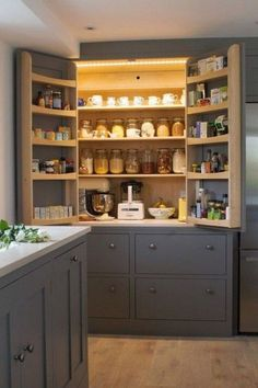 30 Awesome Small Farmhouse Kitchen Decor Ideas Best For Your Farmhouse Design - Kitchen Pantry Design, Refacing Kitchen Cabinets, Home Decor Kitchen, Diy Kitchen, Kitchen Ideas, Kitchen Organization, Kitchen Storage, Storage Spaces, Decorating Kitchen