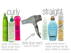 products for curly and straight hair