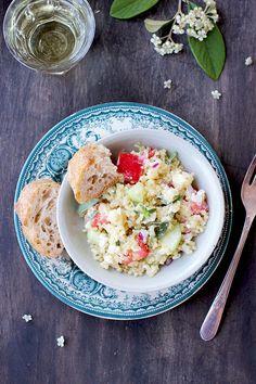 Greek Style Quinoa Salad with Feta Vinaigrette - CaliZona