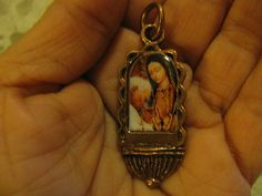 Copper Medal Our Lady Guadalupe with Pope John by alexandracadena