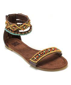 Love this Brown Wren Beaded Sandal by MUK LUKS on #zulily! #zulilyfinds