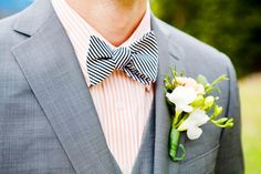 striped bowtie and shirt- love this!
