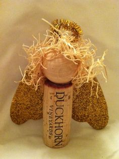Angel Wine Cork Ornament