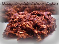 Skinny Chocolate Oatmeal Cookies