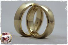 yellow gold wedding rings - sárga arany jegygyűrűk