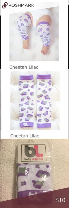 Cheetah baby leggings ***Brand new in package***  ~Material: 80% cotton, 15% polyester, 5% spandex ~Size: One size fits most  Great as leg warmers for infants, toddlers and young children. Perfect 👌🏽 to protect babies legs while crawling. baby leggings Bottoms Leggings