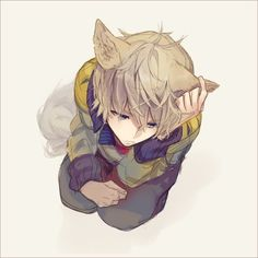anime kawaii neko boy - Buscar con Google