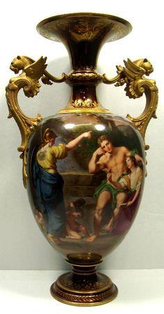 KPM Porcelain Two Handled Figural Vase