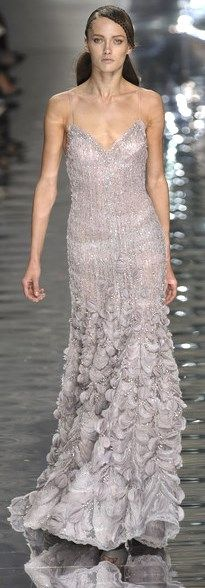 ELIE SAAB HC SS 2010   silver sequin-studded dress with embellishment