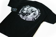 """Rolling Chaos """"Death Ride"""" Tee available from www.rollingchaos.com Rolls, Death, Tees, Mens Tops, T Shirts, Buns, Bread Rolls, Tee Shirts, Teas"""