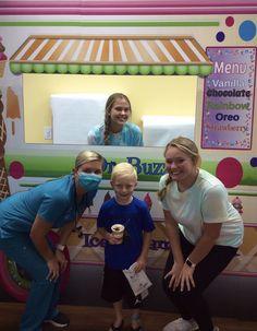 Dr. Buzz Ice Cream Truck=Success! (ice cream just solves everything!) #DrBuzz, #NationalIceCreamMonth, #pediatricdentalcare, #brushflossrepeat, #pediatricdentist, #youscreamiscreamweallscreamforicecream National Ice Cream Month, Pediatric Dentist, Dental Care, Pediatrics, Truck, Success, Dental Caps, Dental Health, Trucks