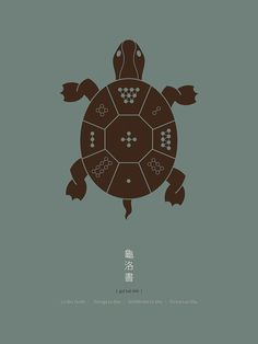 The Lo Shu turtle is fundamental in feng shui and Taoist tradition. The Bagua is based on ist shell pattern – a magic square. Yi King, Book Of Changes, Yin Yang Tattoos, Magic Squares, Celtic Tree, Taoism, Asian Art, Feng Shui, Symbols