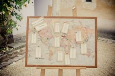 Map of the world wedding table plan | Photography by http://www.jakemorley.co.uk/